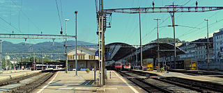 major hub railway station in the canton of Solothurn, Switzerland