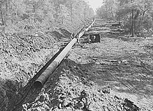 Big Inch pipeline being laid, 1942