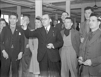 Billy Butlin - Butlin visiting a munitions factory on behalf of the Ministry of Supply