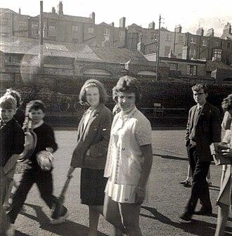 Billie Jean King - Billie Jean Moffitt (later King) at the Irish Open at Fitzwilliam Lawn Tennis Club, Dublin in the 1960s where she won her first international title
