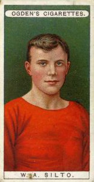 Billy Silto - Cigarette card of William Silto