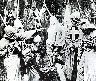 Silent film - Scene from The Birth of a Nation (1915), the highest-grossing silent film in the United States.