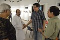 Biswatosh Sengupta Shakes Hands with Sabyasachi Chakrabarty - Kolkata 2016-07-29 5403.JPG