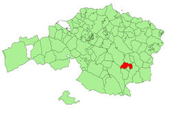 Location of Durango in Biscay.