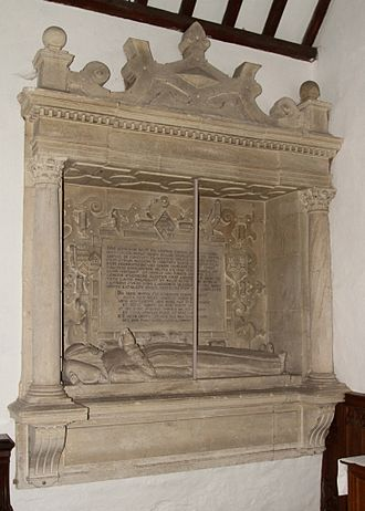 Black Bourton - Elizabethan monument in St Mary's parish church for Eleanor Hungerford, who died in 1592