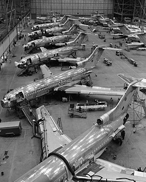 Boeing 727 - Production of the 727