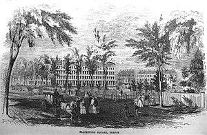 Franklin and Blackstone Squares - Blackstone Square, Boston, 1850s