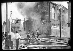 Tyne & Wear Archives & Museums - Image: Blaze in Newcastle