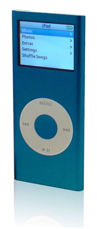 IPod Nano - Blue second generation iPod Nano