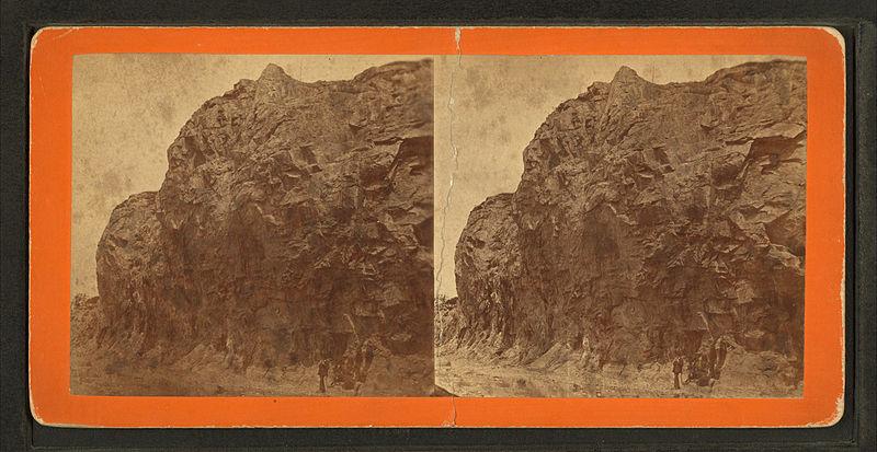 File:Bluff from Pleasant St. Bridge, looking north, by F. H. Crockett.jpg