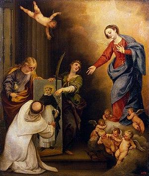 Pedro Atanasio Bocanegra - Saint Dominic in Soriano, ca. 1660, now in the Hermitage Museum.