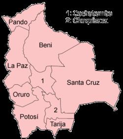 מחלקות בוליביה