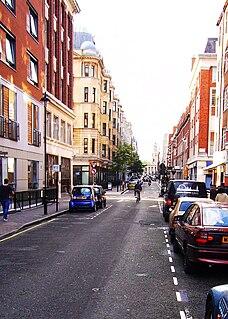 Bolsover Street street in City of Westminster, United Kingdom