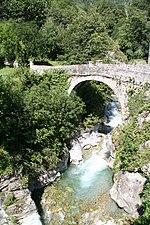 Brücke bei Promontogno (Foto von Juli 2011)