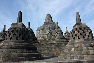 Medang Kingdom - Borobudur, the largest single Buddhist structure in the world, one of the monuments constructed by the Sailendran of the Medang Kingdom.