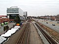 Boston Landing track work west of Everett Street.JPG