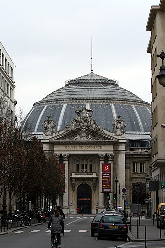Bourse de commerce (Paris) - Entrance of the Bourse de Commerce
