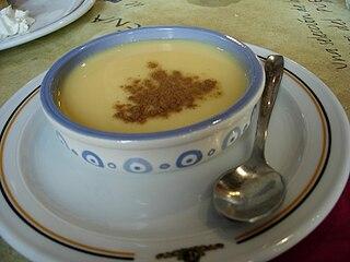 Natillas Spanish custard dish of milk and eggs, variety of custards