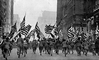 History of the Boy Scouts of America - Boy Scouts take to the streets in New York City, 1917