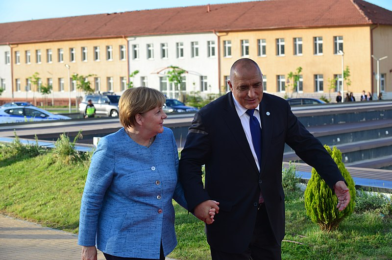 File:Boyko Borissov, Angela Merkel at Sofia Tech Park ahead of the EU leaders' informal dinner (41432169244).jpg