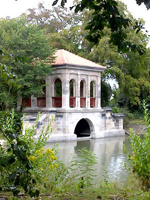 "Birkenhead Park - ""The Boathouse"", alongside the park's lake"