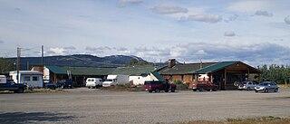 roadhouse on the Klondike Highway in the Yukon Territory of Canada