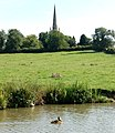 Braunston church from the Oxford Canal - geograph.org.uk - 1483901.jpg