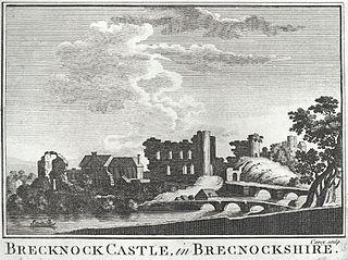 Brecknock Castle, in Brecknockshire