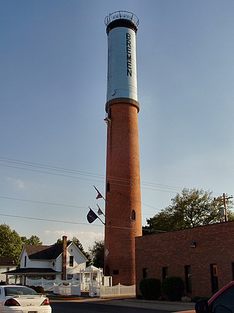 Bremen, Indiana - Bremen's historic water tower.