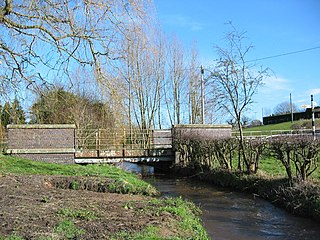 Wych Brook river in the United Kingdom