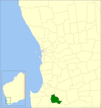 Shire of Bridgetown-Greenbushes - Location in Western Australia