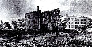 Bridgwater Castle - Image: Bridgwater Castle c 1800