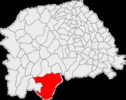 Poziția localit�ții Broșteni