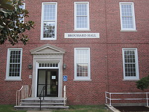 University of Louisiana at Lafayette - Broussard Hall, named for former U.S. Senator Robert F. Broussard, houses the physics department at UL Lafayette.