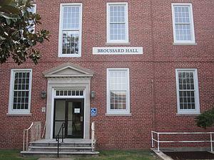 University of Louisiana at Lafayette - Broussard Hall, named for former U.S. Senator Robert F. Broussard, houses the physics department at UL Lafayette.