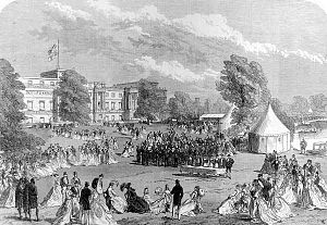 Garden at Buckingham Palace - A garden party at Buckingham Palace in 1868