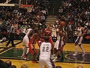 Milwaukee Bucks playing the Charlotte Bobcats in a regular season game