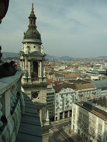 Soubor:Budapešť, Belváros, pohled na centrum města.JPG