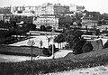 Budapest I., a Bethlen udvar, háttérben a budai Vár. Fortepan 9094.jpg