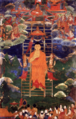 Buddha's descent from Tushita, 18th century, Mongolia.png