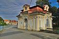 Budova u vstupu do zámeckého parku, Velké Opatovice, okres Blansko.jpg