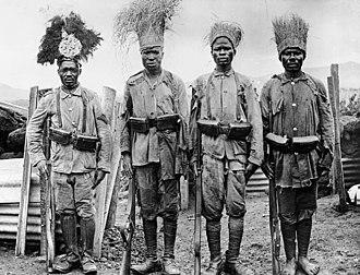 Hehe people - Askari soldiers under German command (1906)