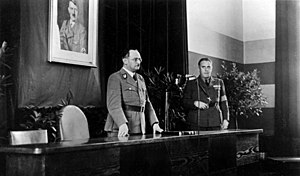 Hans Krebs (SS general) - SS-Brigadeführer Hans Krebs (on left), Oberregierungsrat im Reichsinnenministerium - chief executive officer in the Reich Ministry of the Interior, 1938