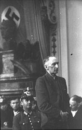 Erwin von Witzleben before the People's Court