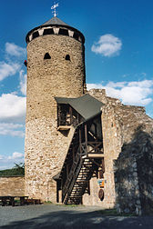 The ruins of Philippstein Castle near Braunfels, Lahn-Dill-Kreis, Germany