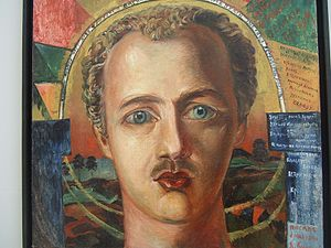Soyuz Molodyozhi - David Burlyuk, Portrait of Vasily Kamensky, 1917