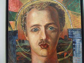 Soyuz Molodyozhi - David Burlyuk, Portrait of Vasily Kamensky, 1917