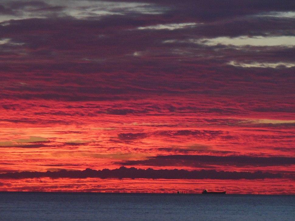 Burning sunset in Henley Beach