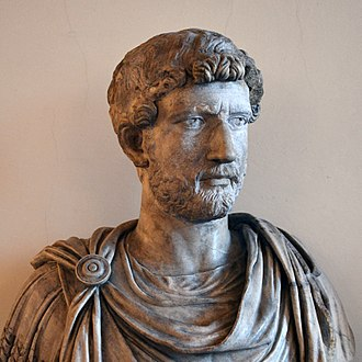 Hadrian - Marble bust of Hadrian at the Venice National Archaeological Museum