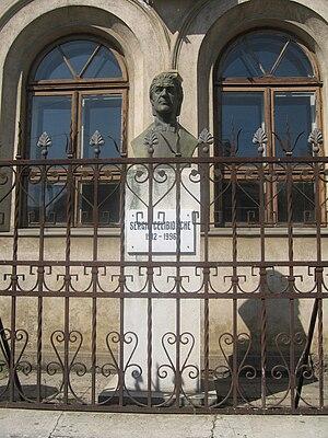 English: Bustul lui Sergiu Celibidache din Iaşi